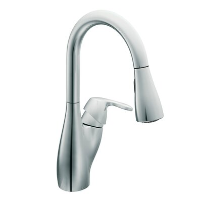 Medora Single handle Deck mount Kitchen Faucet Finish: Chrome