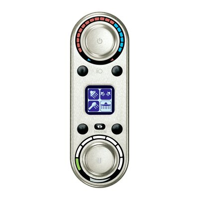 Vertical Spa Digital Control Finish: Brushed Nickel