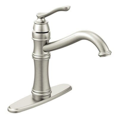 Belfield Single Handle Centerset Kitchen Faucet Side Spray: Without Spray, Finish: Spot Resist Stainless