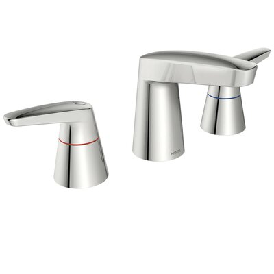 M-Dura Double Handle Widespread Standard Bathroom Faucet Flow Rate: 0.5 gpm