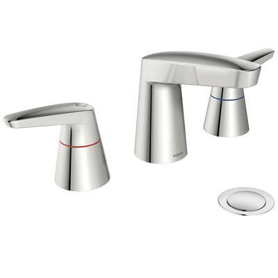 M-Dura Double Handle Widespread Bathroom Faucet Flow Rate: 0.5 gpm