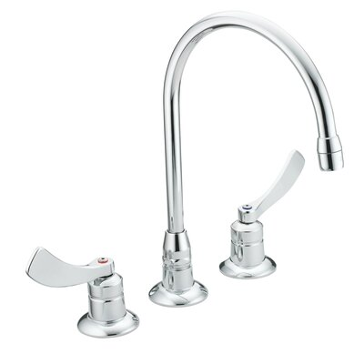 M-Dura Double Handle Widespread Bathroom Faucet Flow Rate: 1.5 gpm