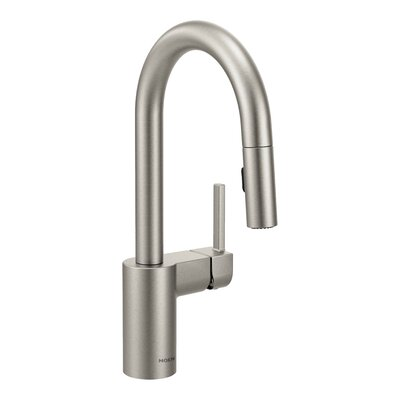 Align Single Handle Deck Mounted Bar Faucet Finish: Spot Resistant Stainless