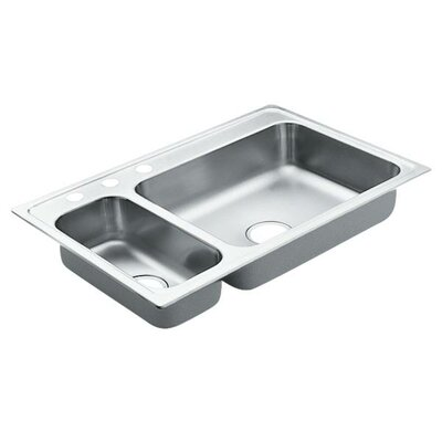 2000 Series 33 x 22 Double Bowl Kitchen Sink