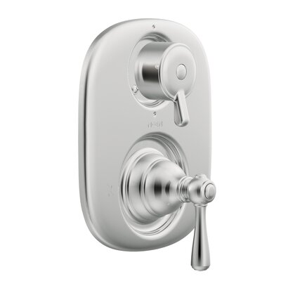 Kingsley Moentrol  Thermostatic Faucet Trim with Metal Push Button Handle Finish: Chrome