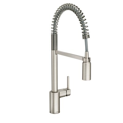 Align One Handle Pre-Rinse Spring Pulldown Kitchen Faucet Finish: Spot Resist Stainless
