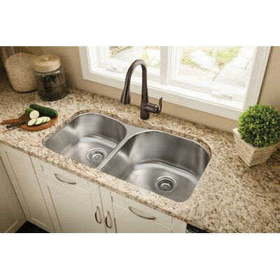 1800 Series 34.25 x 20 Double Bowl Kitchen Sink