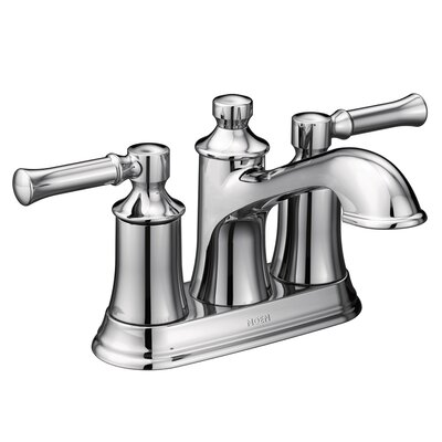 Dartmoor Standard Centerset Bathroom Faucet Double Handle with Drain Assembly Finish: Chrome