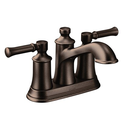 Dartmoor Standard Centerset Bathroom Faucet Double Handle with Drain Assembly Finish: Oil Rubbed Bronze