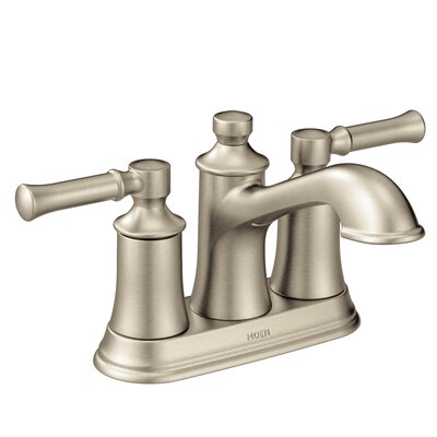 Dartmoor Standard Centerset Bathroom Faucet Double Handle with Drain Assembly Finish: Brushed Nickel