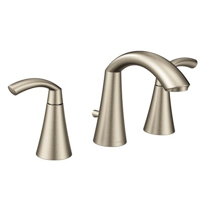 Glyde Standard Bathroom Faucet Double Handle Finish: Brushed Nickel