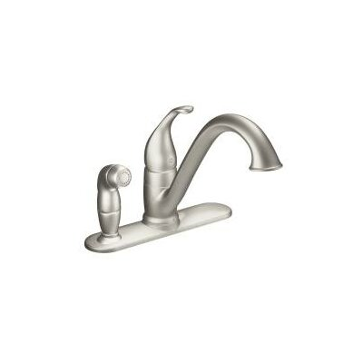 Camerist Single Handle Kitchen Faucet with Side Spray Finish: Spot Resist Stainless