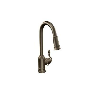 Woodmere Single Handle Pull Down Kitchen Faucet Finish: Oil Rubbed Bronze
