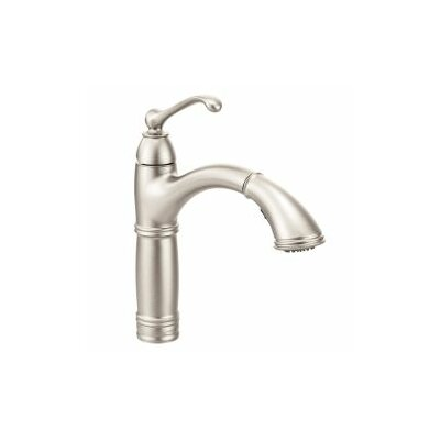 Brantford Single Handle Pull Out Kitchen Faucet Finish: Stainless