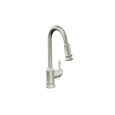 Woodmere Pull Down Bar Faucet Finish: Stainless