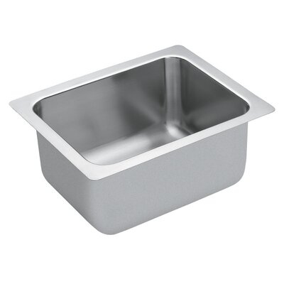 Commercial Stainless Steel Single Bowl 19.375 x 17.375 Drop-In Kitchen Sink with QuickMount Hardware