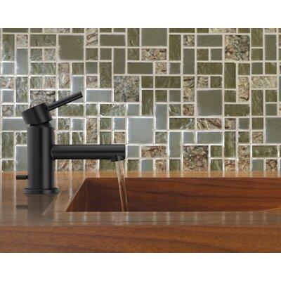 Align Standard Single Handle Single Hole Bathroom Faucet with Drain Finish: Matte Black