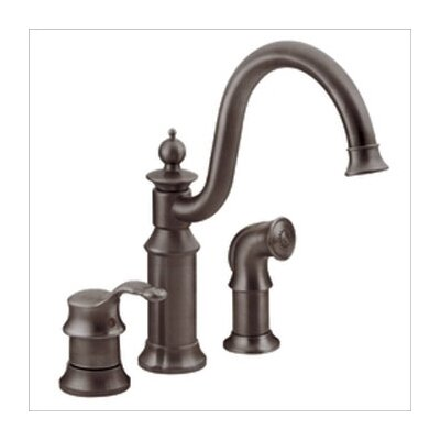 Waterhill Single Handle Widespread Bar Faucet with Side Spray Finish: Oil Rubbed Bronze