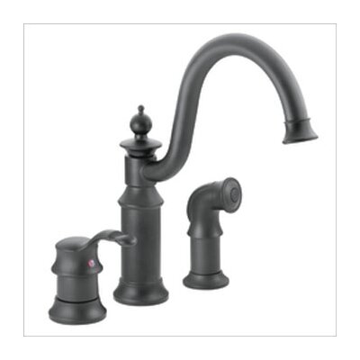 Waterhill Single Handle Widespread Bar Faucet with Side Spray Finish: Wrought Iron