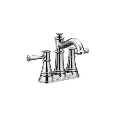 Belfield Double Handle Centerset Single Handle Bathroom Faucet with Drain Assembly Finish: Chrome