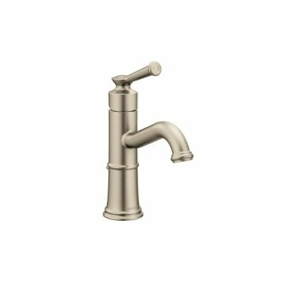 Belfield Single Hole Single Handle Bathroom Faucet with Drain Assembly Finish: Brushed Nickel