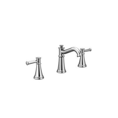 Belfield Double Handle Widespread Bathroom Faucet with Drain Assembly Finish: Chrome