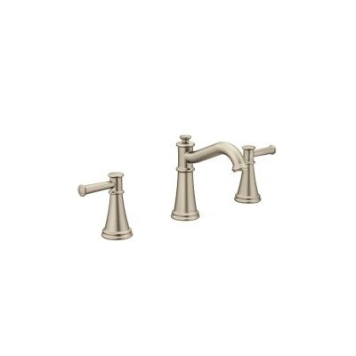 Belfield Widespread Double Handle Bathroom Faucet with Drain Assembly Finish: Brushed Nickel