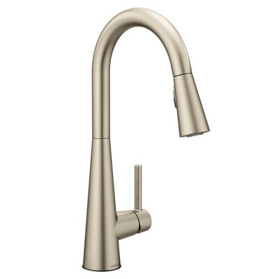 Sleek Pull Down Single Handle Kitchen Faucet Finish: Spot Resist Stainless