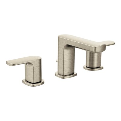 Rizon Widespread Double Handle Bathroom Faucet with Drain Assembly Finish: Brushed Nickel