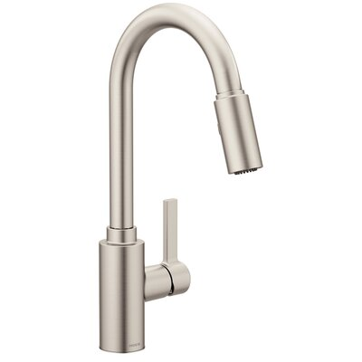 Genta Single Handle Pulldown Kitchen Faucet Finish: Spot Resist Stainless