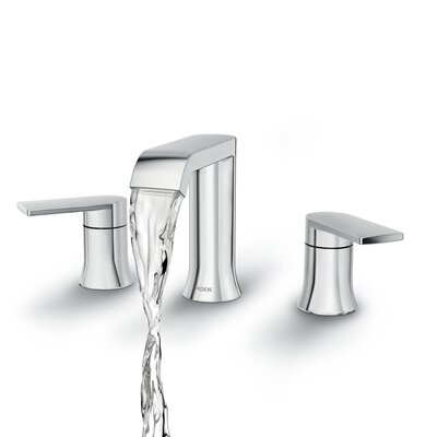 Genta Widespread Double Handle Bathroom Faucet with Drain Assembly