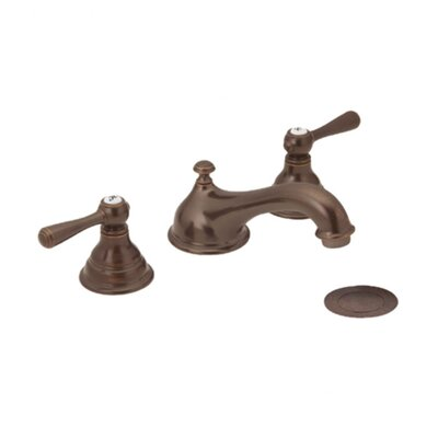 Kingsley Widespread Double Handle Bathroom Faucet Finish: Oil Rubbed Bronze