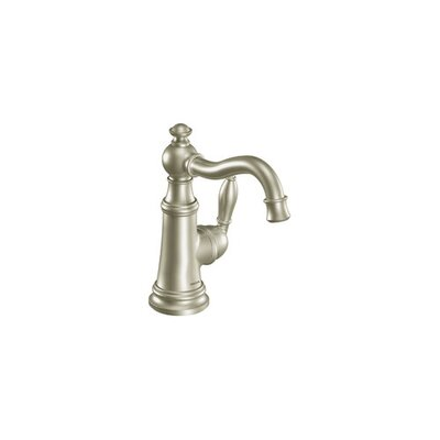 Weymouth Single Handle Single Hole Bathroom Faucet Finish: Brushed Nickel