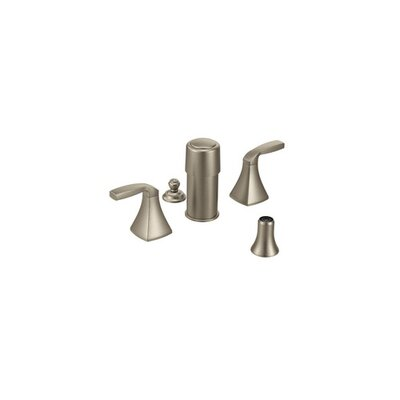 Voss Double Handle Widespread Vertical Spray Bidet Faucet Finish: Brushed Nickel