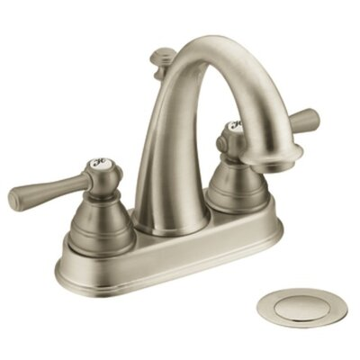 Kingsley Two Handle Centerset High Arc Bathroom Faucet Finish: Brushed Nickel