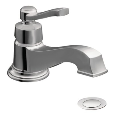 Rothbury Single Handle Single Hole Low Arc Bathroom Faucet with Drain Finish: Chrome
