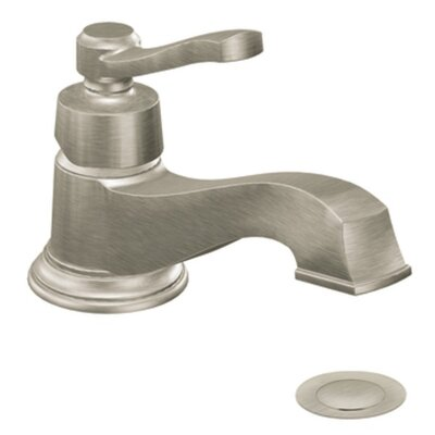 Rothbury Single Handle Single Hole Low Arc Bathroom Faucet with Drain Finish: Brushed Nickel