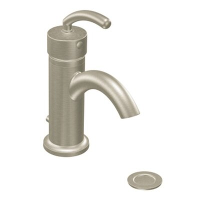 ICON Single Handle Single Hole Low Arc Bathroom Faucet Finish: Brushed Nickel