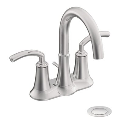 Icon Two Handle Centerset High Arc Bathroom Faucet Finish: Chrome