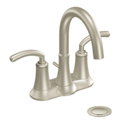 Icon Two Handle Centerset High Arc Bathroom Faucet Finish: Brushed Nickel