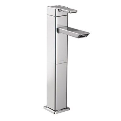 90 Degree Single Handle Single Hole High Arc Vessel Bathroom Faucet Finish: Chrome