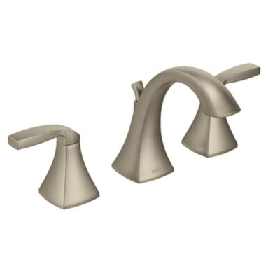 Voss Double Handle Widespread Standard Bathroom Faucet with Drain Assembly Finish: Brushed Nickel