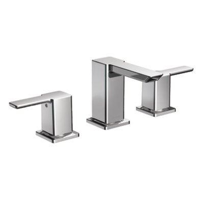 90 Degree Double Handle Widespread Bathroom Faucet with Optional Pop-Up Drain Finish: Chrome