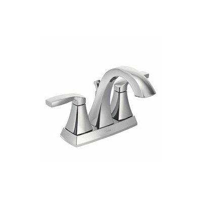 Voss Two Handle Centerset High Arc Bathroom Faucet with Optional Pop-Up Drain Finish: Chrome