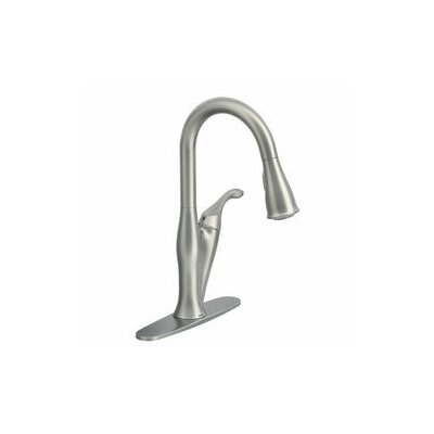 Benton Single handle Kitchen Faucet Finish: Resistant Stainless Steel
