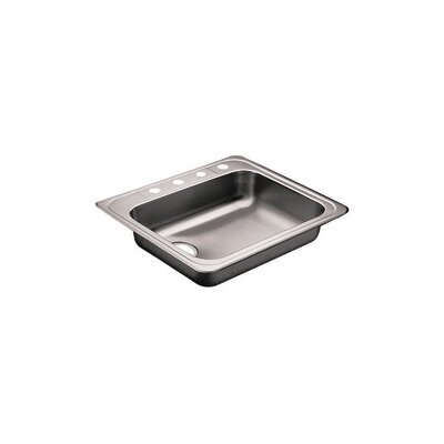 Commercial 25 x 22 Single Bowl Self-Rimming Kitchen Sink