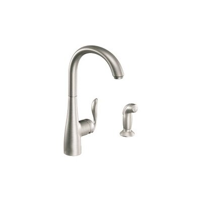 Arbor Single Handle Single Hole Kitchen Faucet with Side Spray Finish: Spot Resist Stainless
