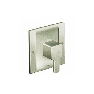 90 Degree Moentrol Shower Faucet Trim with Lever Handle Finish: Brushed Nickel