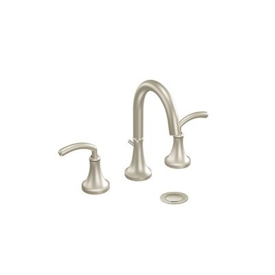 Icon Double Handle Widespread High Arc Bathroom Faucet with Optional Pop-Up Drain Finish: Brushed Nickel