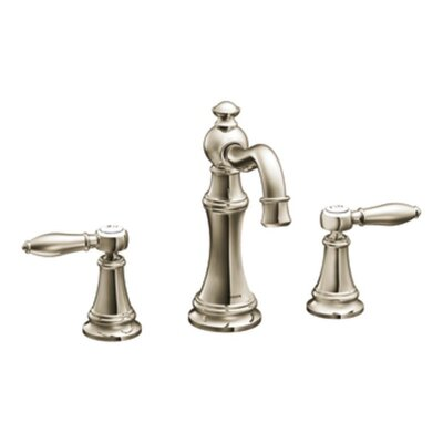 Weymouth Double Handle Widespread High Arc Bathroom Faucet with Optional Drain Finish: Polished Nickel, Flow Rate: 1.75 GPM